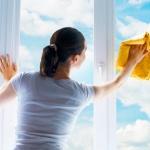 limpiar las ventanas de aluminio
